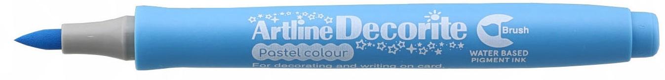 Marker Artline Decorite, varf flexibil (tip pensula) - bleu pastel