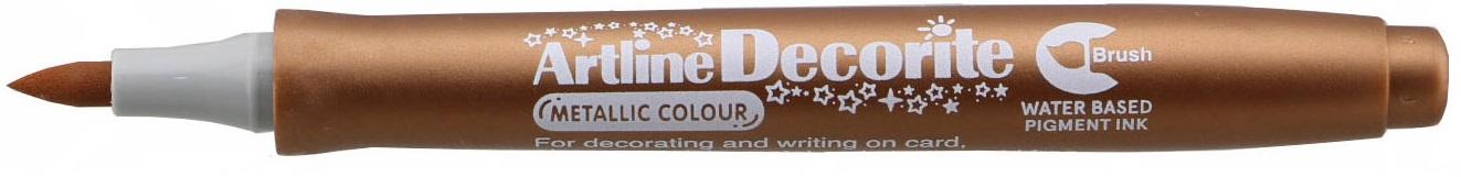 Marker Artline Decorite, varf flexibil (tip pensula) - bronz
