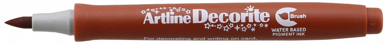 Marker Artline Decorite, varf flexibil (tip pensula) - maro