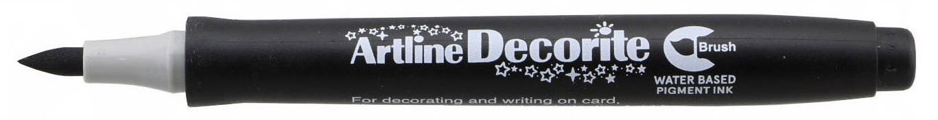 Marker Artline Decorite, varf flexibil (tip pensula) - negru