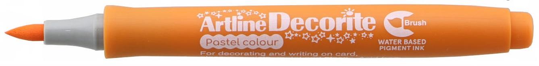 Marker Artline Decorite, varf flexibil (tip pensula) - orange pastel