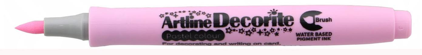 Marker Artline Decorite, varf flexibil (tip pensula) - roz pastel