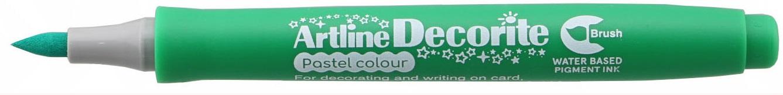 Marker ARTLINE Decorite, varf flexibil (tip pensula) - verde pastel