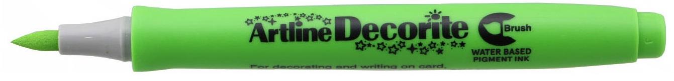 Marker Artline Decorite, varf flexibil (tip pensula) - vernil