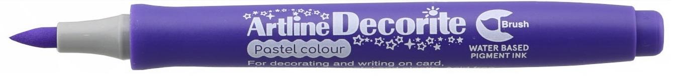 Marker Artline Decorite, varf flexibil (tip pensula) - violet pastel