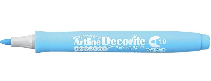 Marker Artline Decorite, varf rotund 1.0mm - bleu pastel