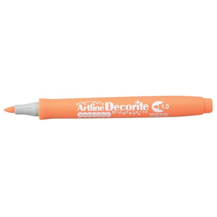 Marker Artline Decorite, varf rotund 1.0mm - orange pastel