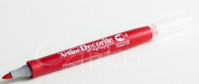 Marker ARTLINE Decorite, varf rotund 1.0mm - rosu