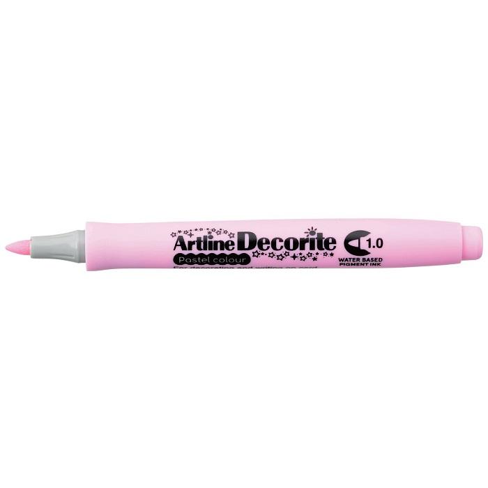Marker Artline Decorite, varf rotund 1.0mm - roz pastel