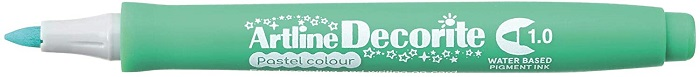 Marker Artline Decorite, varf rotund 1.0mm - verde pastel