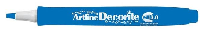 Marker Artline Decorite, varf tesit 3.0mm - albastru