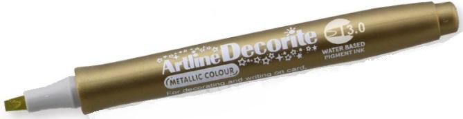 Marker ARTLINE Decorite, varf tesit 3.0mm - auriu