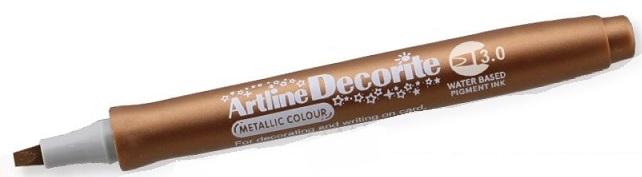 Marker Artline Decorite, varf tesit 3.0mm - bronz
