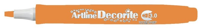 Marker Artline Decorite, varf tesit 3.0mm - orange pastel