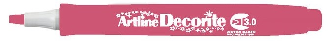 Marker Artline Decorite, varf tesit 3.0mm - roz metalizat