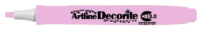 Marker ARTLINE Decorite, varf tesit 3.0mm - roz pastel