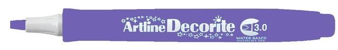 Marker Artline Decorite, varf tesit 3.0mm - violet pastel