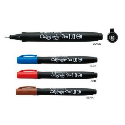 Marker ARTLINE Supreme Calligraphy, varf tesit din fetru 1.0mm - maro