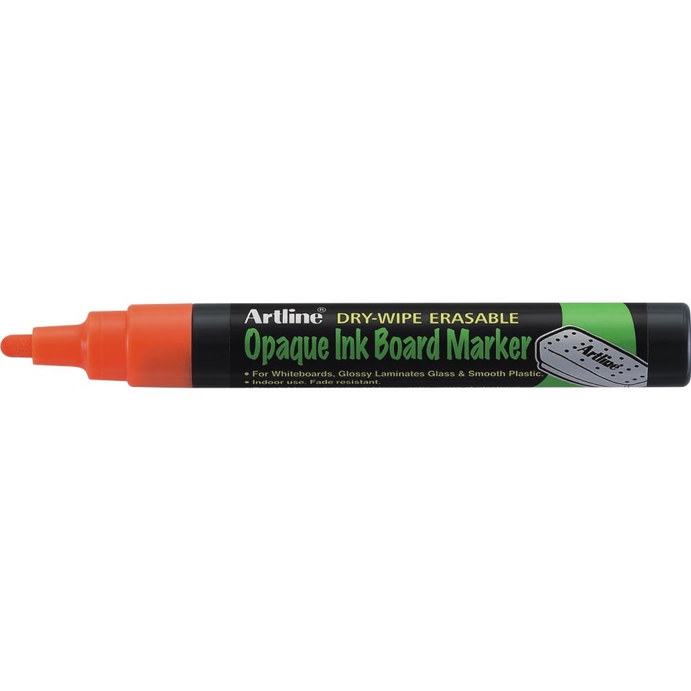 Marker cu cerneala opaca, Artline, pentru table de scris, varf 2.0mm - orange fluorescent