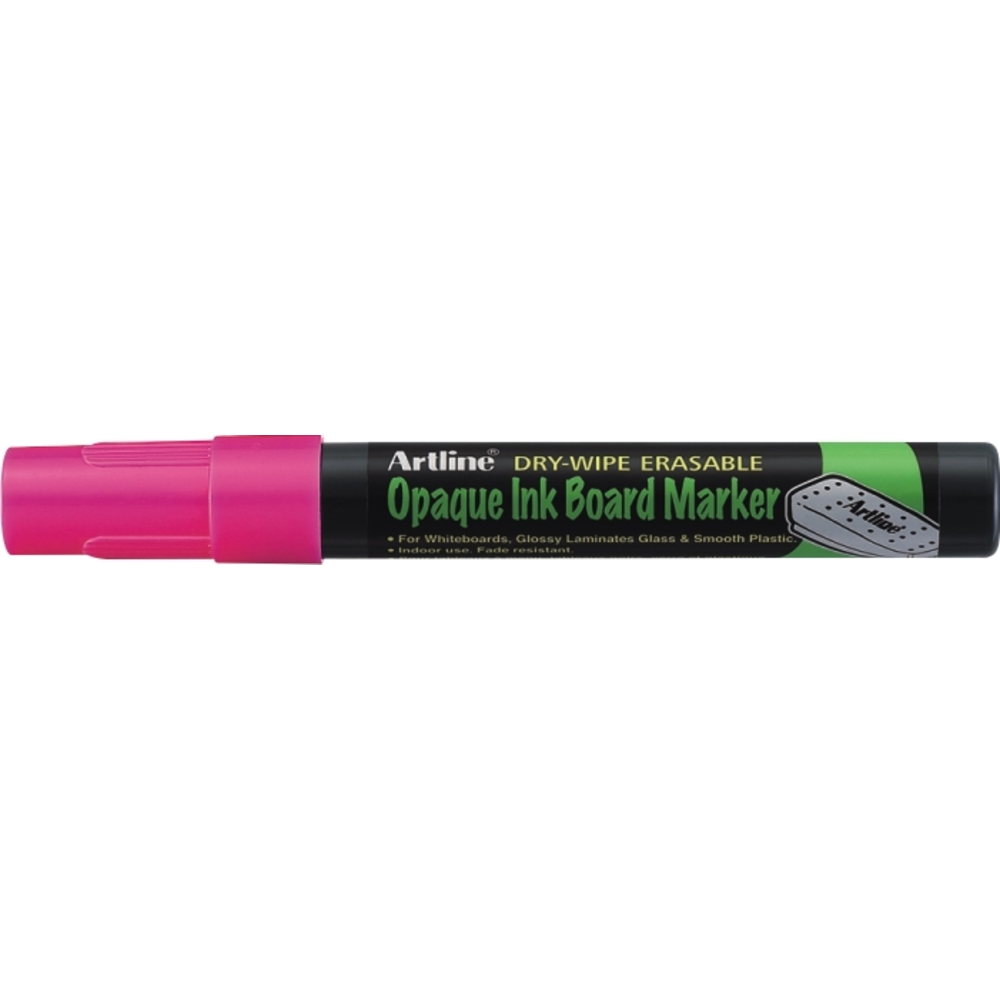 Marker cu cerneala opaca, Artline, pentru table de scris, varf 2.0mm - roz fluorescent