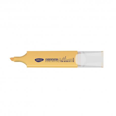 Marker evidentiator pastel portocaliu Daco MK401PP