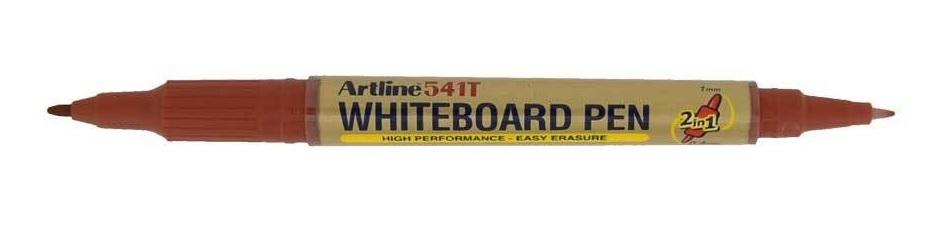 Marker pentru tabla de scris Artline 541T, doua capete - varfuri rotunde 0.4mm/1.0mm - maro