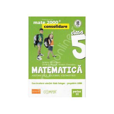 Mate 2000 pentru clasa a V-a. Partea a II-a, CONSOLIDARE. Matematica - Aritmetica, algebra, geometrie. Editia a II-a revizuita