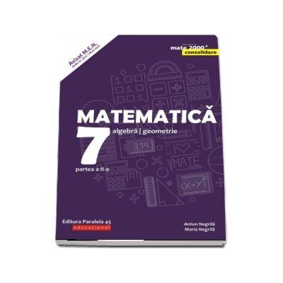 Matematica. Algebra, geometrie. Clasa a VII-a. Consolidare. Partea a II-a - Editia a VII-a