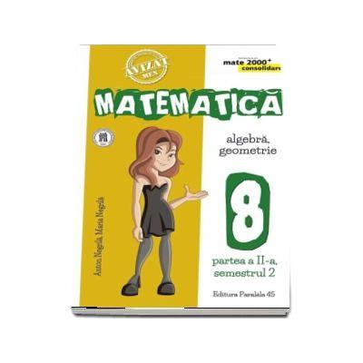 Matematica - CONSOLIDARE (2018 - 2019). Algebra si Geometrie, pentru clasa a VIII-a. Partea a II-a, semestrul al II-lea (Colectia mate 2000+)