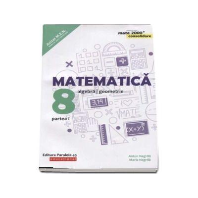 Matematica - CONSOLIDARE 2018 - 2019. Algebra si Geometrie, pentru clasa a VIII-a. Partea I. Colectia mate 2000, Editia a VII-a