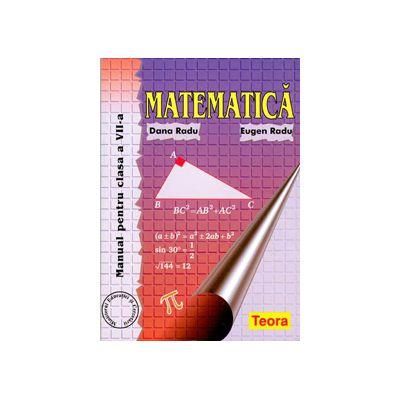 Matematica, manual pentru clasa a VII-a, Dana Radu