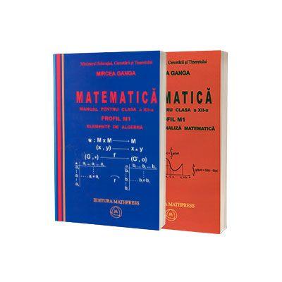 Matematica, manual pentru clasa XII-a - Profil M1 (set I+II) - Mircea Ganga