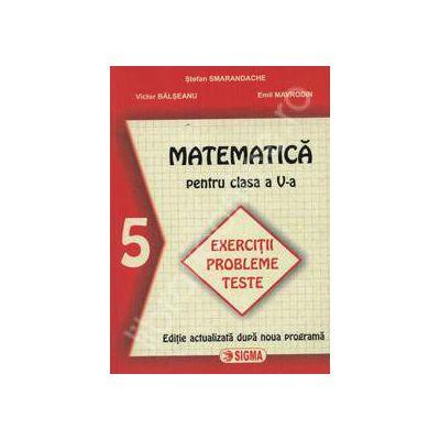 Matematica pentru clasa a V-a. Exercitii probleme teste (Smarandache)
