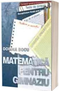Matematica pentru gimnaziu - Dorin Bocu