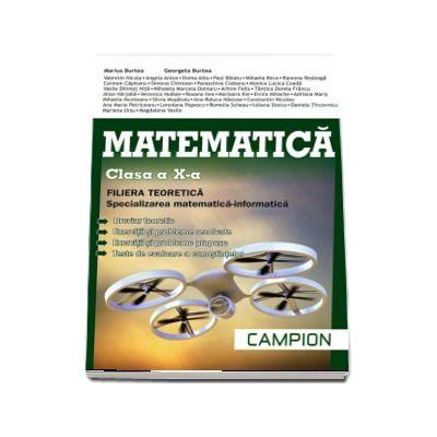 Matematica, profil M1, pentru clasa a X-a. Filiera teoretica, specializarea matematica-informatica