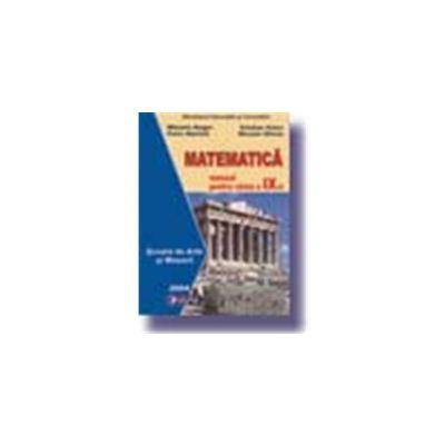 Matematica.Manual pentru Scoala de Arte si Meserii clasa a-IX-a