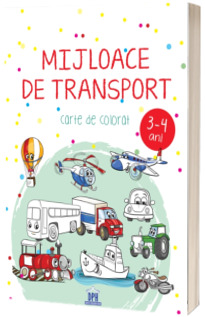 Mijloace de transport 3-4 ani. Carte de colorat