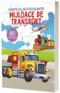 Mijloace de transport, carte cu atocolante - 80 autocolante