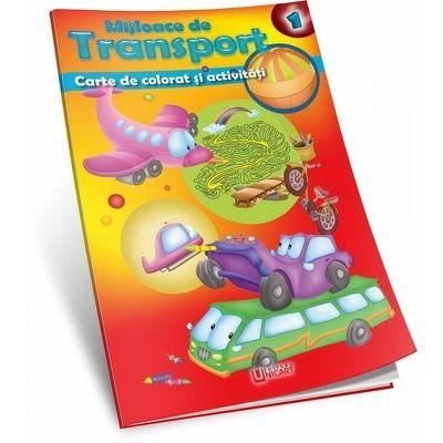 Mijloace de transport - carte de colorat si activitati