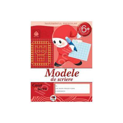 Modele de scriere, caiet de lucru grupa pregatitoare 6 ani.