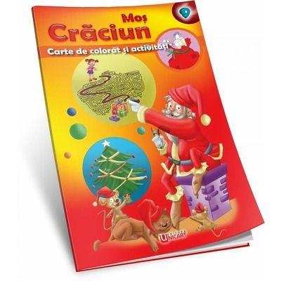 Mos Craciun - carte de colorat si activitati