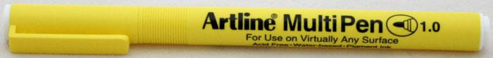 Marker universal ARTLINE Multi Pen, varf rotund 1.0mm - alb
