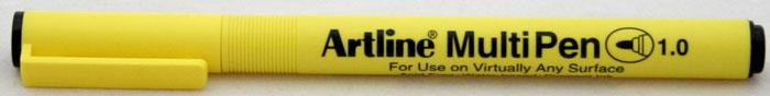 Marker universal ARTLINE Multi Pen, varf rotund 1.0mm - negru