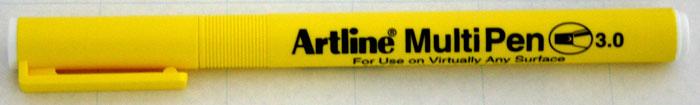 Marker universal ARTLINE Multi Pen, varf tesit 3.0mm - alb