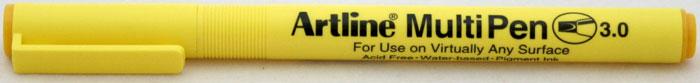 Marker universal ARTLINE Multi Pen, varf tesit 3.0mm - galben