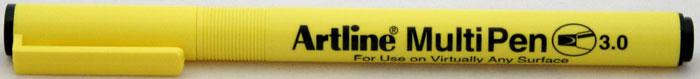 Marker universal ARTLINE Multi Pen, varf tesit 3.0mm - negru