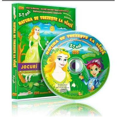 Natura se trezeste la viata. Jocuri educationale 3-7 ani, CD 5 (Colectia Eduteca)