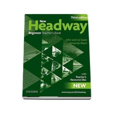 New Headway Teachers Resource Pack (teachers Book and Teachers Resource Disc) Beginner level. Six level General English Course