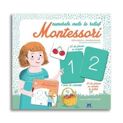Numerele mele in relief Montessori