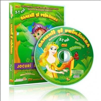 Oamenii si primavara. Jocuri educationale 3-7 ani, CD 6 (Colectia Eduteca)